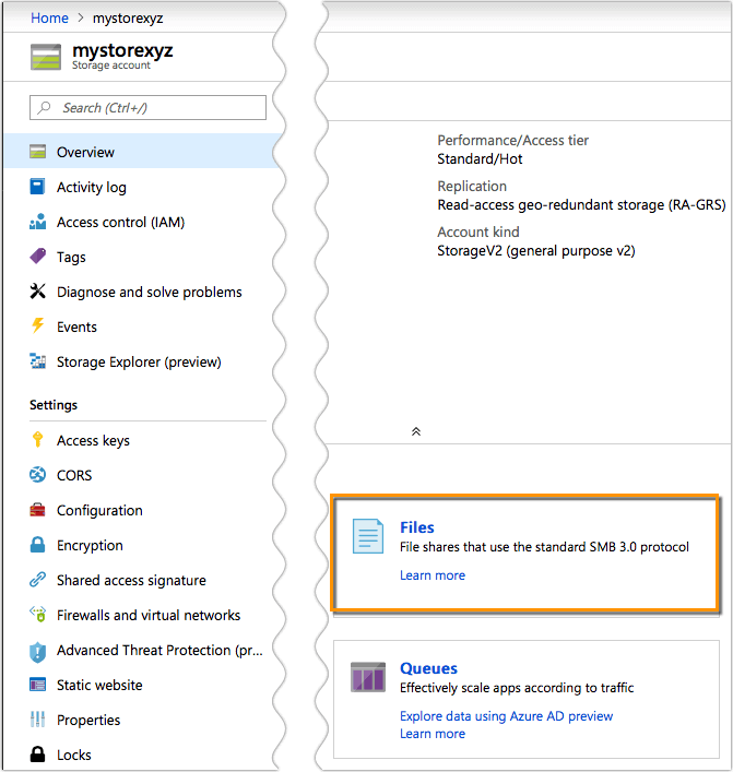Setting Up A Microsoft Azure Files File Share