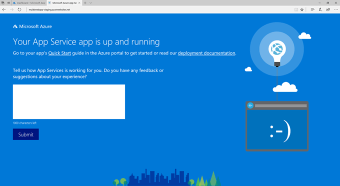 Deploying a Web App in Azure App Services