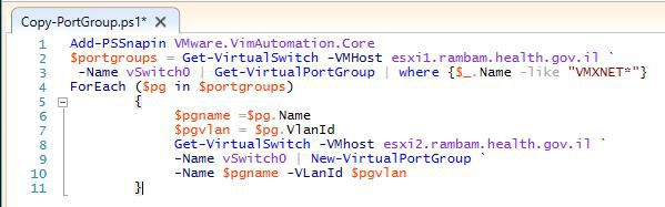 VMware PowerCLI – Copy Port Groups Script