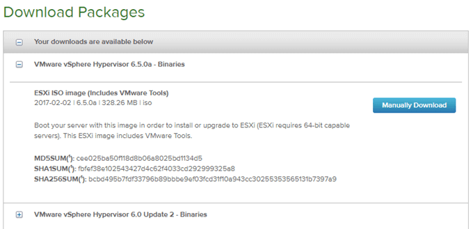 Create Bootable USB Drive for VMware ESXi Installer