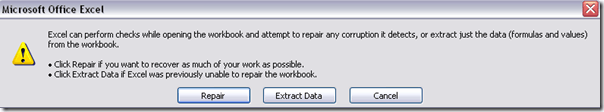 excel open and repair