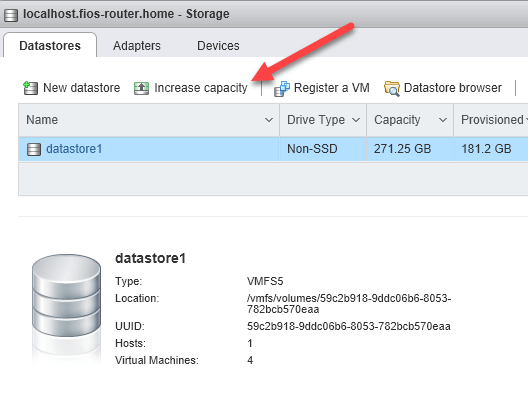 How to Expand VMware ESXi Datastore Capacity