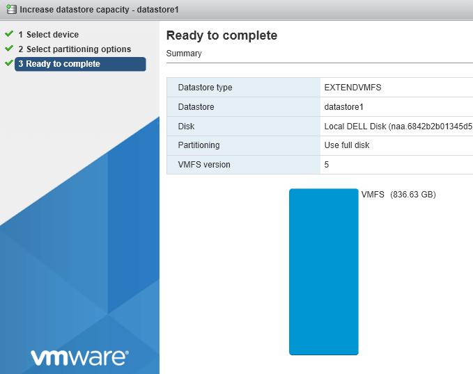 How to Expand VMware ESXi Datastore Capacity