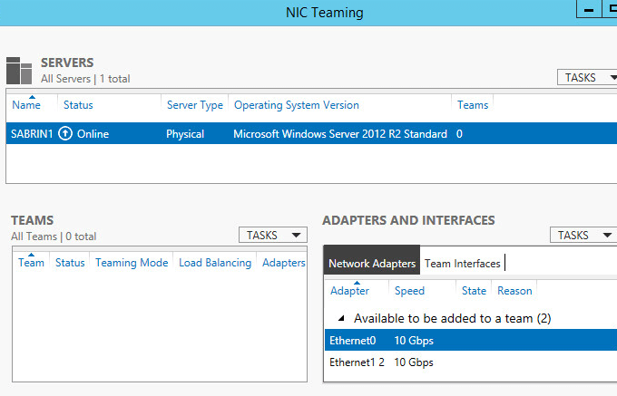 How to Configure NIC Teaming on Windows Server